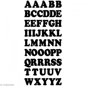 Stickers Peel Off's Alphabet - Noir