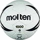 Molten Handball H2X1000, Weiß/Schwarz/Gold, Gr. 2