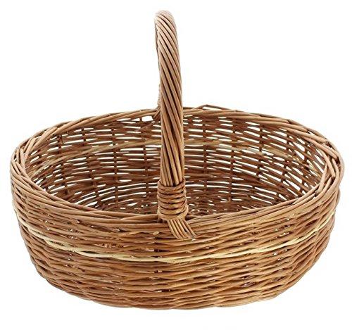 SIDCO ® Einkaufskorb Bügelkorb Autokorb Weidenkorb Tragekorb Picknickkorb Korb natur