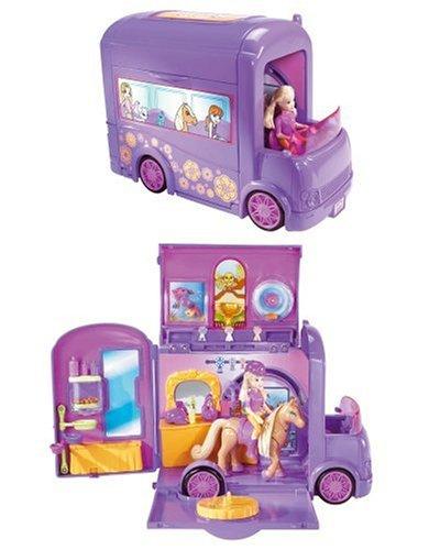 Mattel - Polly Pocket - L9868-0 - Funkelnde Tierfreunde - Showbus-Spielset