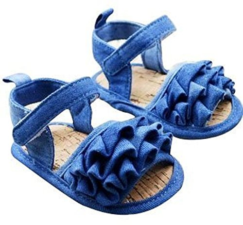 Baby Bucket Pre-Walker Sandal Shoes Light Weight Soft Sole Booties Sandal (Blue, 10-15 Months)  available at amazon for Rs.360