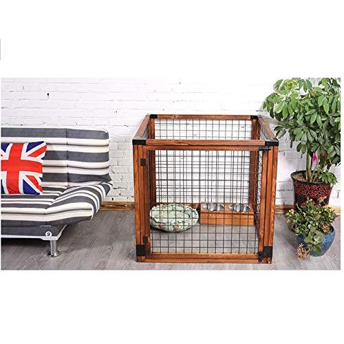 Clôture pour Chien, clôture pour Chien en pin intérieure/extérieure, Convient aux Cages pour Grands, Moyens et Petits Chiens - Rouge carbonisé / 4 Tailles
