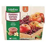 Blédina 4 Coupelles Pommes Cerises Vanille dès 8 mois