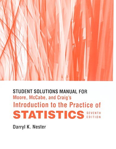 Study Guide/Solutions Manual for Introduction to the Practice of Statistics by David S. Moore (2010-12-01)