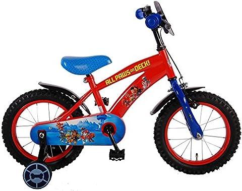 Paw Patrol Fahrrad 14 Zoll Kinderfahrrad Kinder Rad Jungen Mädchen Rot 61450