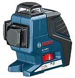 Bosch Professional Linienlaser GLL 3-80 P (3 Linien 360° Projektion, 4x 1,5 V Batterien, Schutztasche, Stativ BT 150, Laserzieltafel, Arbeitsbereich mit Empfänger: 80 m)