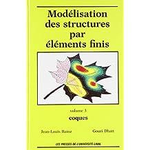 Modélisation des structures par éléments finis