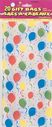 Festive Luftballons Cello Tasche–20Stück