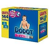 Dodot-Couches pour bébé, 112 couches 11-16 kg de taille 5 + 2 paquets de lingettes gratuit