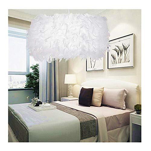 Meerveil 1 STÜCK Romantische Traumhafte Feder Droplight Zimmer Lampe Schlafzimmer LED Deckenleuchte Schlafzimmer LED Deckenleuchte Feder Droplight (20 cm)