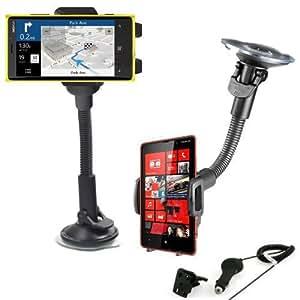 Support voiture rotatif 360 Nokia Lumia 630 635 + Grille d'aération et Chargeur allume cigare OFFERT!!!