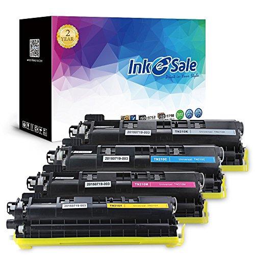 Ink E-Sale 4x Kompatible Tonerkartuschen zu Brother TN-230 TN230 für Brother DCP-9010CN / MFC-9120CN / HL-3040CN / HL-3070CW / MFC-9320CW Drucker, schwarz ca. 2.200 Seiten, cyan, magenta, gelb ca. 1.400 Seiten