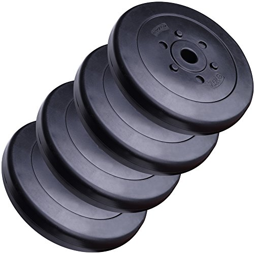 ScSPORTS 30 kg Hantelscheiben-Set Kunststoff 4 x 7,5 kg Gewichte 30/31 mm Bohrung