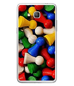 FUSON Designer Back Case Cover for Samsung Galaxy Grand 3 :: Samsung Galaxy Grand Max G720F (Multi colour Chess Coins arts)