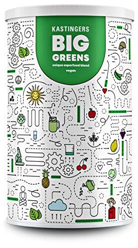 Big Greens Superfood Pulver | 600 g | 20+ Superfoods perfekt kombiniert wie Gerstengras, OPC, Acerola, Reishi, Chlorella | vegan, ohne Laktose & Soja | HERGESTELLT IN DEUTSCHLAND | 1-Monatsvorrat -