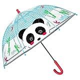 Panda Regenschirm Transparent für Kinder - Durchsichtig Kinderschirm mit...