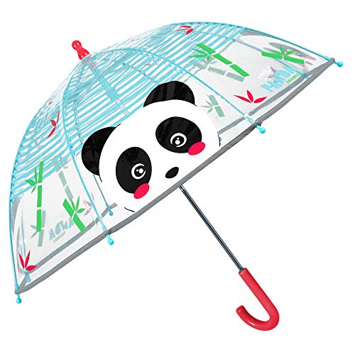Paraguas Transparente Panda Niño Niña