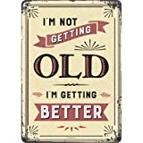 Nostalgic-Art 10307 Word Up - I'm not getting old, Blechpostkarte 10x14 cm