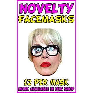 Ab Fab Mint Novelty Celebrity Face Mask Party Mask Stag Mask