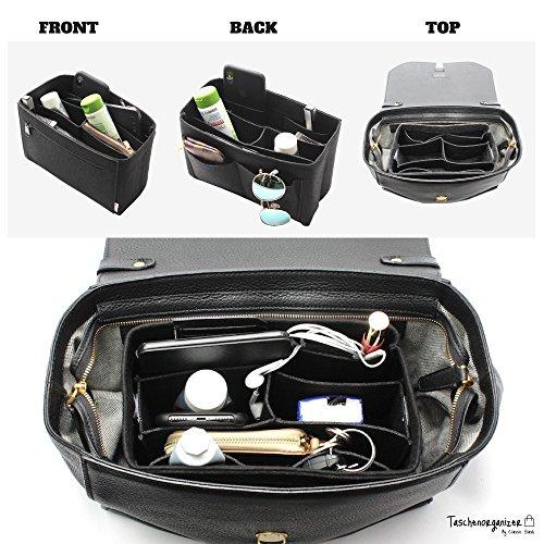 518ZSNw bFL - Classic Slash Handbag Organiser - Bag in Bag - Insert Pouch for Women Purse - Felt