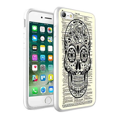 iPhone 5c Sweet Skull & Green with Flowers & Vintage design Case, Premium Lightweight Cover Skin, Unique Custom Cool Design Protective Hard back Slim Thin Fit PC Bumper Case Scratch-Resistant Cover for iPhone 5c - Sweet Skull & Green with Flowers & Vintage Cool Art 0022 (Bling Iphone 5c-skull Case)