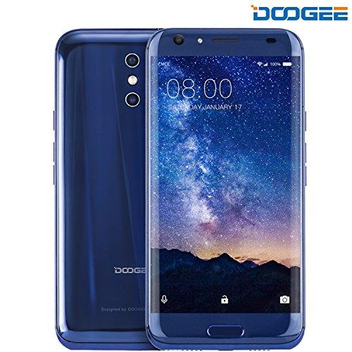 Móviles y Smartphones Libres, DOOGEE BL5000 Moviles Libres Baratos   5.5 Pulgadas FHD Pantalla   MT6750T Mali T860   4GB RAM + 64GB ROM   8.0 MP + 13.0MP   Android 7.0   Dual SIM   Batería de 5050mAh (Azul)