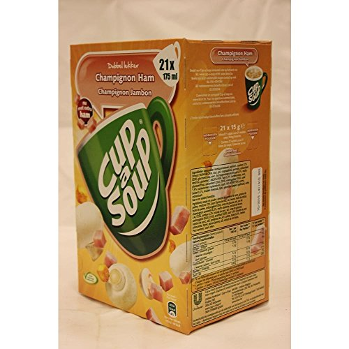 Unilever Champignon-Schinkensuppe, Coup a Soup, Tütensuppe, Tassensuppe, 21 x 175ml