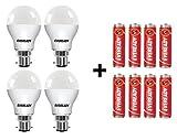 Eveready Base B22D 9-Watt LED Bulb (4 Pieces Offer Pack)