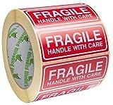 Les caractéristiques uniques de 1 rouleau Fragile Stickers taille 90x35mm Autocollant fragile permettra de réduire le risque que des objets fragiles comblera tout au long de l'expédition. Les rouge et blanc poignée avec des autocollants de soins tail...