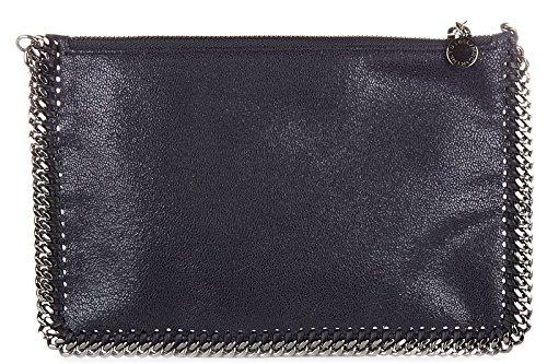 stella-mccartney-pochette-borsa-a-mano-donna-nuova-originale-purse-falabella-blu