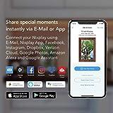 Smart Photo Frame Nixplay 10,1 Pouces - Cadre WiFi à Fixation Murale avec écran 1280x800, capteur de Mouvement. Affichez et partagez des Photos Via l'application Nixplay Mobile