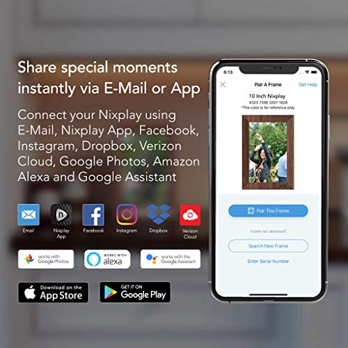 Nixplay 2K Digitaler Smart Bilderrahmen 9.7 Zoll - Teilen Sie Momente sofort über die App oder E-Mail