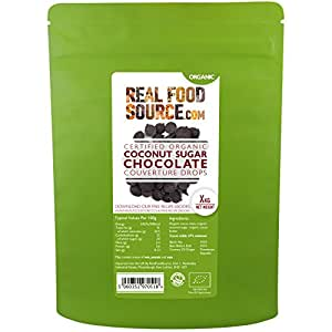 RealFoodSource Certified Organic 67% Coconut Sugar Chocolate Couverture (500g)