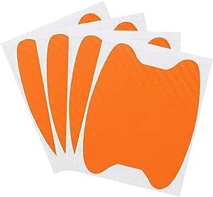 Senzeal 4 Stück Universal Auto Türgriff Aufkleber Kratzschutz Aufkleber Auto Türgriff Kratzschutz Folie Schwarz Rot Orange Dunkelblau Silber Auto