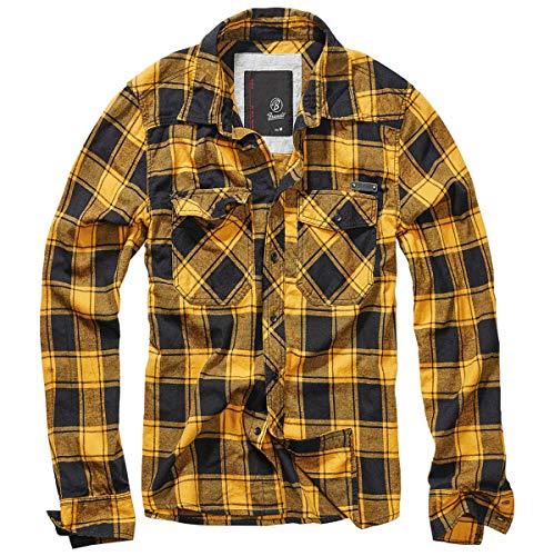 Brandit Check Shirt Men Fred Black-Yellow L