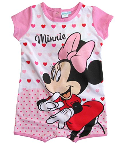 Minnie Mouse Kollektion 2018 Strampelanzug 56 62 68 74 80 86 Strampler Kurz Einteiler Maus Disney Rosa (Rosa, 74-80) (Pooh Disney T-shirt Top)