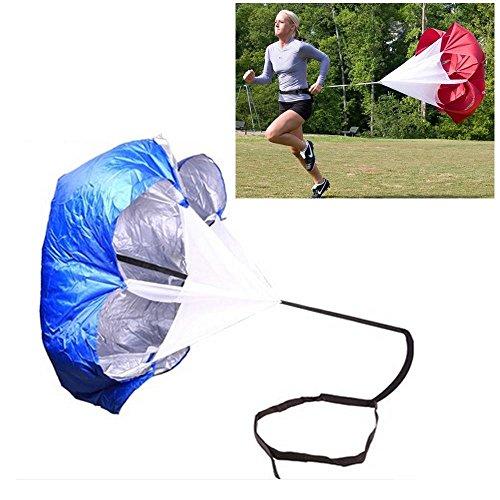 Leegoal Speed-Training, Running Parachute Fußball Training Widerstand Fallschirm Regenschirm für Running und Fitness Gewicht Core Krafttraining, blau