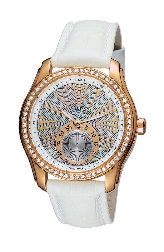 Cerruti 4391918 - Reloj analógico de mujer de cuarzo con correa de piel blanca - sumergible a 50 metros