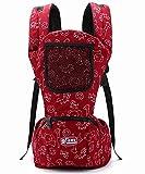 Glield Baby und Kindertrage Babybauchtrage Rückentrage mit integriertem Sitz 3 Tragepositionen ETBD01