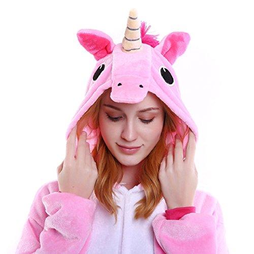 Imagen de tuopuda kigurumi pijamas unicornio unisexo adulto traje disfraz pijamas de animales enteros cosplay animales de vestuario ropa de dormir halloween y navidad m  158 167 cm height , pink  alternativa