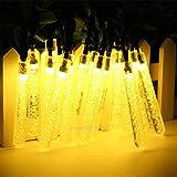 elegantstunning Lichterkette Solarbetriebene 20 LEDs Kupferdraht Bars Urlaub Dekorationen Weihnachten
