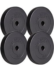 Poids disques en plastique 20 kg (4 x 5 kg)