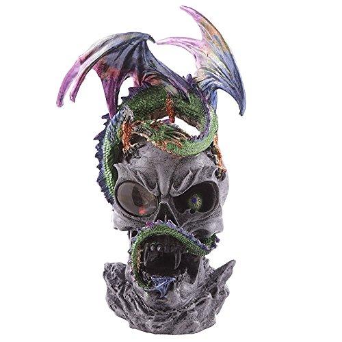 LED crystal Eye oscuro Legends Dragon figura decorativa