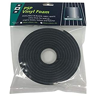 Admiral Tapes Fishing Accessories Double Be Tigkl Vinyl Foam Tape Black 25 x 3 x 3 mm, 56196