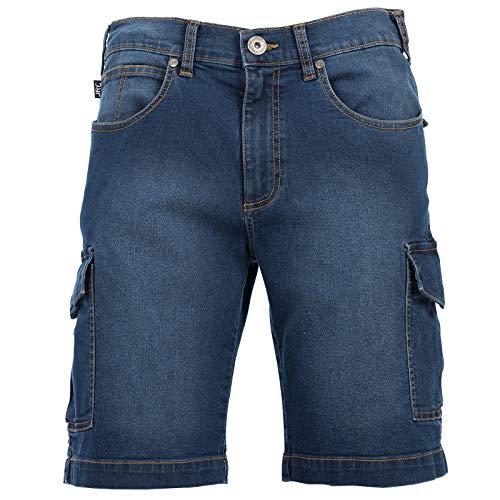 Chemagliette! pantaloncini da lavoro uomo shorts bermuda jeans elasticizzati jrc houston