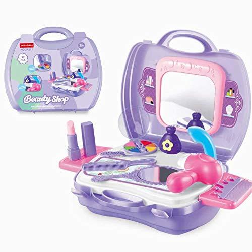 Hilai Kinder vorgeben Spielen Make-up Kosmetik-Box mit Spiegel -