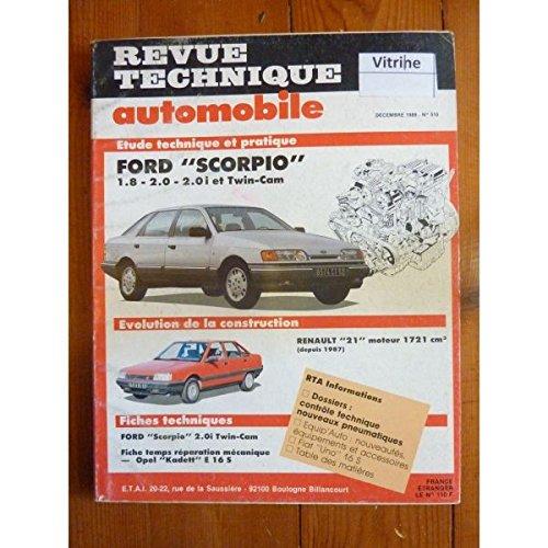 RTA0510 - REVUE TECHNIQUE AUTOMOBILE FORD SCORPIO 1.8 - 2.0 - 2.0i et Twin-Cam