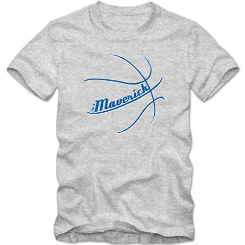I'm a Maverick #2 T-Shirt | Herren | Basketball | Play Offs | Trikot | USA | Fanshirt | Tee, Farbe:Graumeliert (Grey Melange L190);Größe:S -