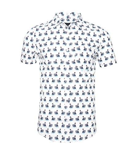 NUTEXROL Camisa de Hombre Camisas Hawaianas Camisas Estampadas de Homb