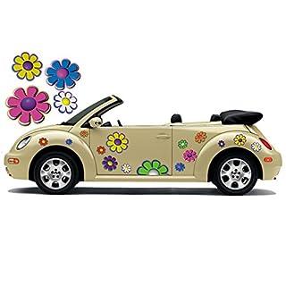 Hippie Blumen Aufkleber, Autoaufkleber Hippie 029 - bunt gemischt (16)